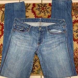 7 for all mankind Kate Jeans Straight Leg Size 30